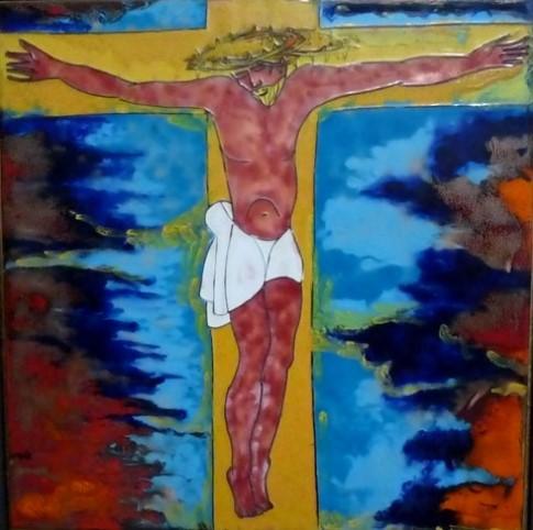 Jesus gekreuzig und gestorben