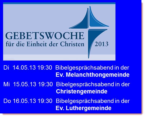 Gebetswoche Griesheim 2013