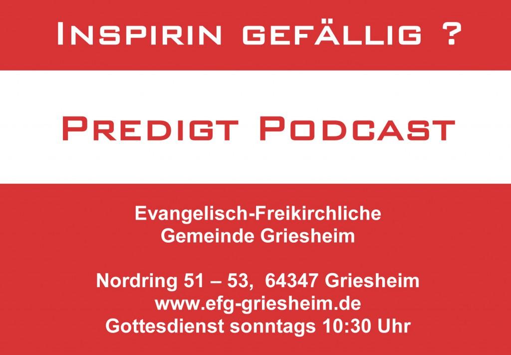 EFG-Griesheim Predigt-Podcast zum Nachhören.