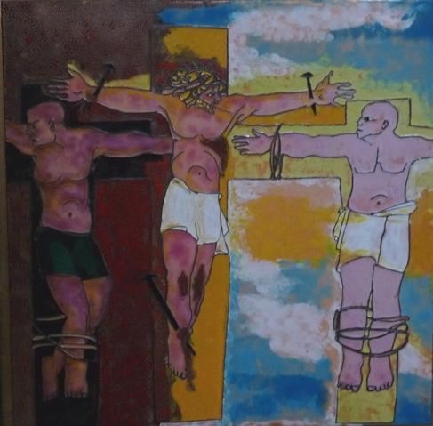 Am Kreuz mit Verbrechern