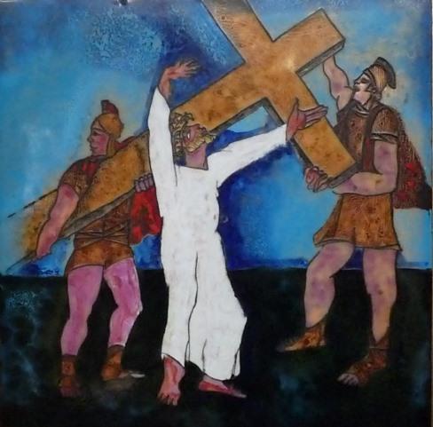 Jesus trägt sein Kreuz
